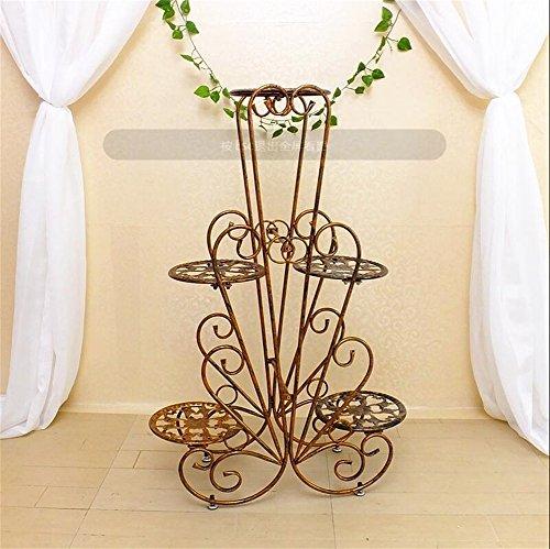 Supports de fleur de fer d'intérieur/présentoir créatif de pot de fleur de plancher de style pour le balcon de salon