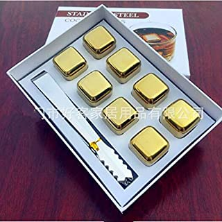 Ice Box - The Latest Gold Plated 304 Stainless Steel Whiskey Ice Creative Production Grain Tart Stone 6 Square - Large Neckalaces Injuries Bottle Exchanger Usb-c Wheels Book Vintage Small M