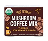 Four Sigmatic Mushroom Coffee with Lion's Mane & Chaga For Concentration + Focus, Vegan, Paleo,...