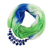 HOSD Bufanda colgante de mujer bufandas de joyería de diamantes de imitación de gasa Bufanda Bufandar de color gradual para mujer Poncho H Estados Unidos