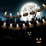 KIMOBER 20 LEDs Halloween Ghost String Lights,Battery Powered Lighting Decoration for Halloween Outdoor Indoor Party