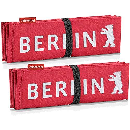 reisenthel 2X seatpad rot Berlin reserviert Sitzkissen mit Berlin-Aufdruck praktisches Doppelset