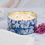 Duftkerze Soja Kerze Groß 400g 3 Dochte, Baumwolle Duft Natürliches Aromatherapie Mama - 2