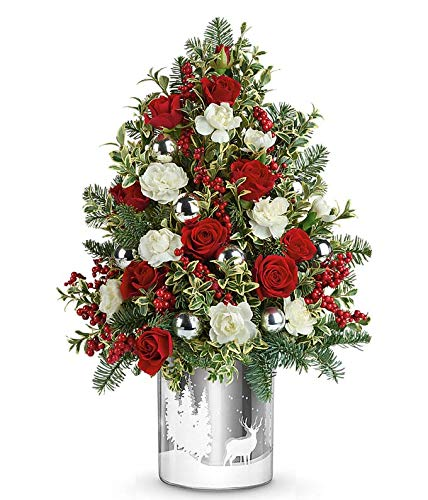 Magic Of Christmas - Send Christmas Flowers - Christmas Flowers & Centerpiece - Christmas Flowers Online - The Shopstation Christmas Flower Delivery
