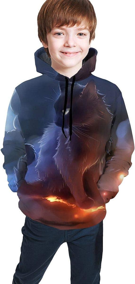 Galaxy Warrior Cats Unisex Realistic Kids Sweatshirt Hoodies Max 43% High order OFF