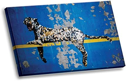 Banksy Street Graffiti Bronx Zoo Leopard Giclee Gallery Stretched HD Canvas Wall Art product image