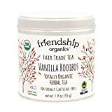 Friendship Organics Vanilla Rooibos Tea Bags,...