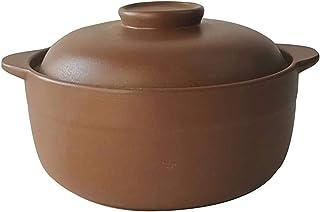 Cooking Pot Gas Safe Cocotte Stew Pot Braising Pan,Ceramic Heat Resistant Health Soup Pot,Unglazed Casserole Dish for Preg...
