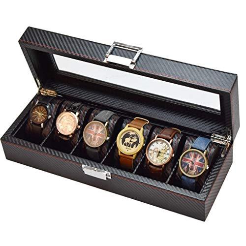 XZJJZ Joyería de Caja - Caja de Reloj de Fibra de Madera Caja de Almacenamiento de Reloj de visualización del Contador Mesa de Escritorio joyero Caja decoración
