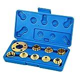 KATSU Set da 10 pezzi di boccole guida modello per fresatrice verticale in ottone con custodia