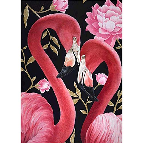 DIY Diamant-Malerei-Set für Erwachsene, Flamingo, Malen nach Zahlen, Kits für Kinder, Diamant-Kunst-Kits, rosa Blume, Strass-Stickerei, Kreuzstich, Zubehör, Kunsthandwerk, Leinwand, 30 x 40 cm