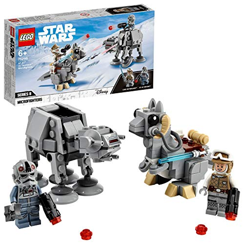 LEGO 75298 Star Wars Microfighters: AT-AT vs. Tauntaun, Juguete de construcción con Mini Figura de Luke Skywalker y Caminante