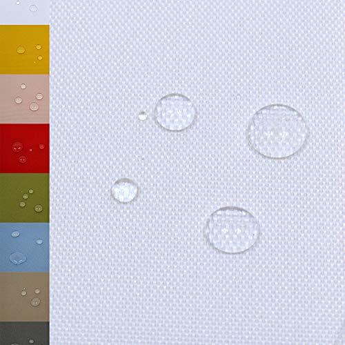 MAGAM-Stoffe Malte Outdoor Stoff Planenstoff Zeltstoff Reißfest Wasserdicht Meterware 50cm (01. Weiß)