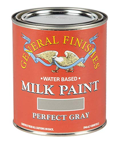 General Finishes Water Based Milk Paint, 1 Quart, Perfect Gray