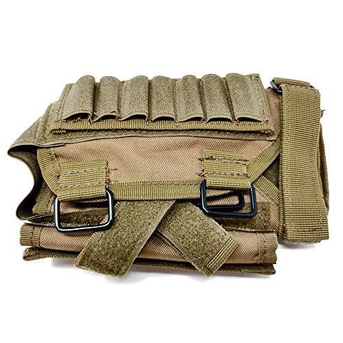BATTLBOX Adjustable Rifle Cheek Rest Holder with Molle Pouch - Large Admin Storage Pouch - Adjustable Rifle Rest