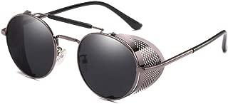 Steampunk Retro Round Sunglasses Metal Frame Men Women Black Red Brand Glasses Designer Fashion Male Female Shades 45472