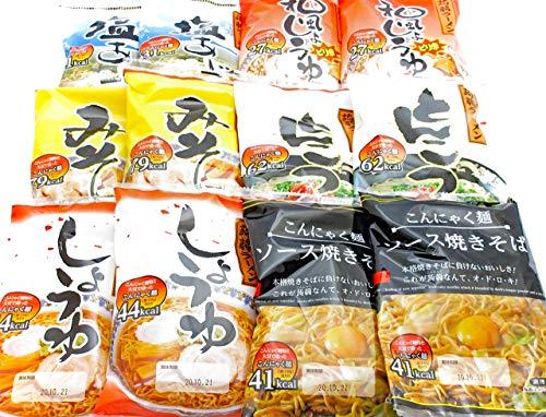 ナカキ食品 こんにゃくラーメン(5種) + こんにゃく焼きそば(1種) セット 計6種各2袋(12食分)