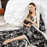 Sa gino Super Soft Faux Fur Throw Blanket Full Size...