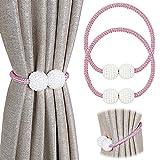 PINOWU - Lote de 2 cordones de sujeción magnéticos para cortinas, decorados con perlas, para...