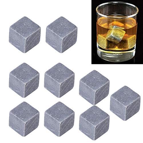 Jopwkuin Piedras de Hielo de Vino, Enfriador de Cubitos de Hielo Duradero portátil para Vino