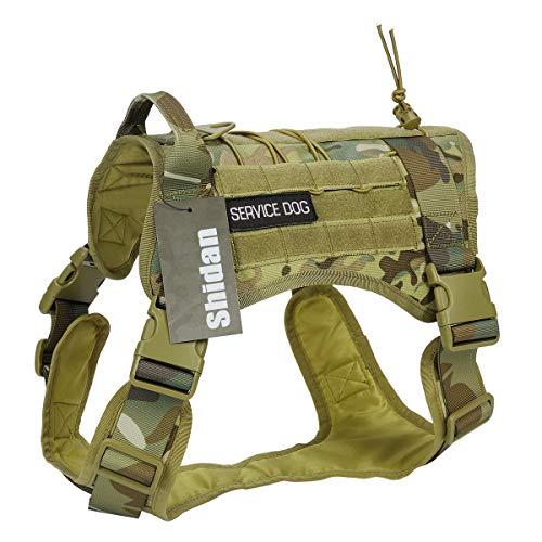 Xidan Taktische Service Hund Weste Militär Patrol K9 Hundegeschirr Molle Hund Weste Harness mit Griffen