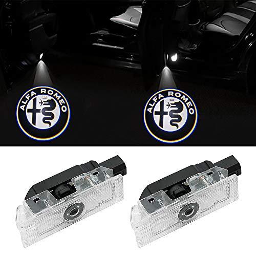 Liuer 2PCS Car Door LED Lighting Logo Projector Easy-Install Bright Ghost Shadow Cortes/ía Guest Lamp Kit Iluminaci/ón de la entrada 3D Luz de la l/ámpara del logotipo del proyector de bienvenida
