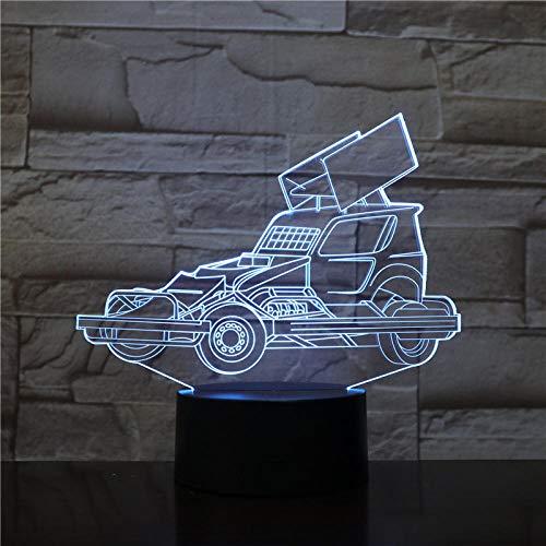WxzXyubo Regalo de vacaciones del juguete de los niños del coche LED de la luz de la noche 3D