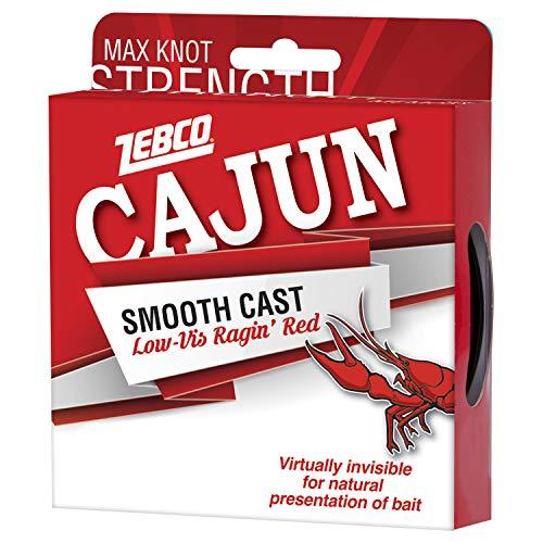 Cajun Line Co. - Angelschnüre in Low-Viz Ragin Red, Größe 5,4 kg