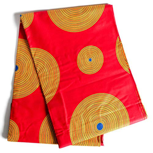 Lanyard Vibrant African Kente Print Cotton Fabric