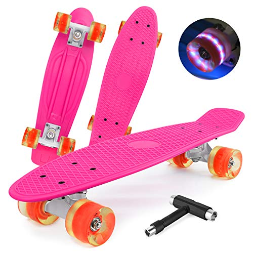 shownicer Skateboard Kinder Komplettboard Mini Cruiser Skate Penny Board 22
