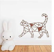 Diseño De Gato Geométrico Animal Pegatinas De Pared Artista Decoración Del Hogar Calcomanías De Pared Para Dormitorio Habi...