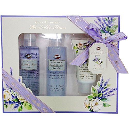 Gloss Les Belles Fleurs Coffret de Bain Trio Lavande 3 Pièces