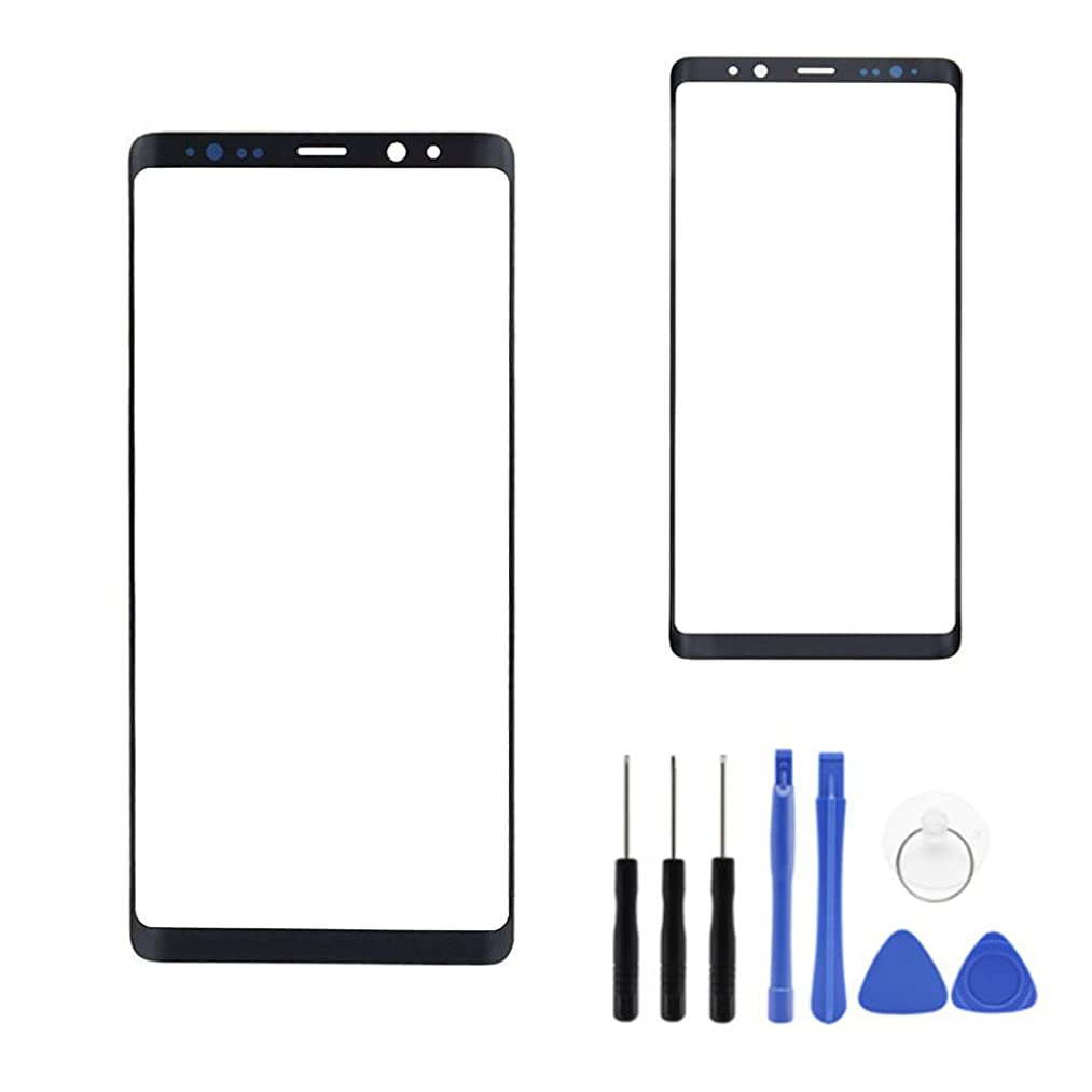Panel Outer Screen Glass Lens for Galaxy Note 8 - Black Front Screen Outer Glass top Panel Lens Replacement for Samsung Galaxy Note 8 Note8 N950U N950W N950FD N950F (Not LCD &Not Digitizer)