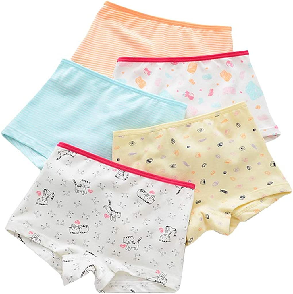 5 Pack Boys Underwear, Kids Cotton Underpants with Elasticated Waist,2-5 Years