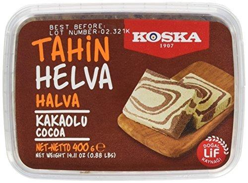 Koska Premium Tahin Halva mit Kakao (400Gr / 14.10 Oz)