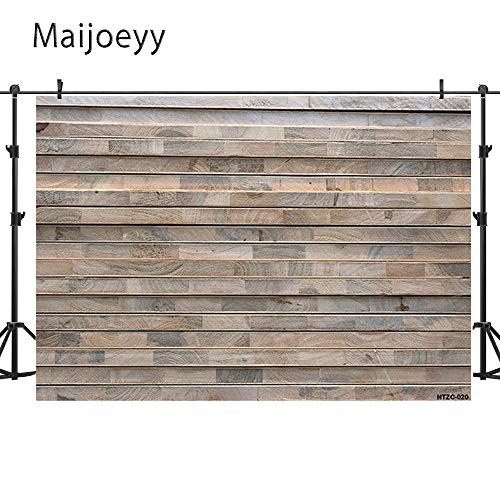 Maijoeyy 7x5t Photography Backdrops Retro Wood Wall Photo Booth Props Brown Wood Floor Studio Props Backdrop Wood Backdrop NTZC-020