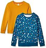 Amazon Essentials Sudadera de Forro Polar con Cuello Redondo Fashion-Sweatshirts, Paquete de 2 Animales Azules/Dorados, S