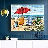 AQgyuh Puzzle 1000 Piezas Pequeño Paisaje de Playa Fresco y Simple. Puzzle 1000 Piezas paisajes Rompecabezas de Juguete de descompresión intelectual50x75cm(20x30inch)