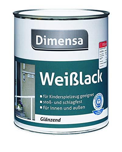 Acryllack weiß   Weißlack glänzend auf Wasserbasis Holzfarbe & Metallfarbe   2,5 Liter