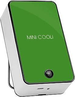 LEEDY - Mini ventilador de aire acondicionado portátil recargable USB verano para casa o oficina, plástico abs, Verde, Tamaño libre