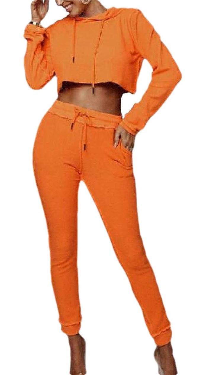 シャンプー恐ろしい恐ろしいレディースファッション2ピース衣装長袖クロップトップパンツカジュアルトラックスーツ