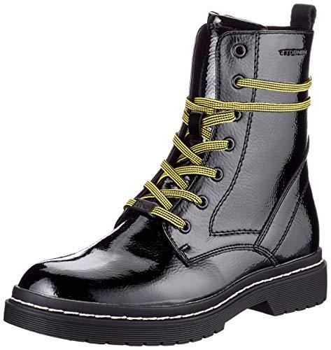 Tom Tailor Womens 9096302 Mid Calf Boot Bootie Boot, Black, 7.5 UK