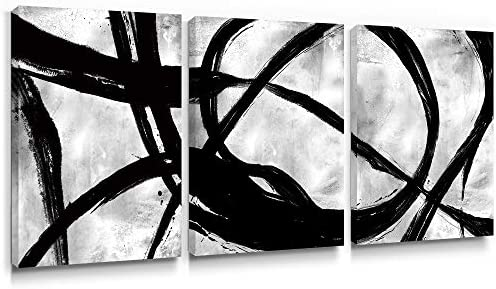 Gronda Abstract Black and White Canvas Wall Art Modern Home D cor Contemporary Artwork Paintings product image