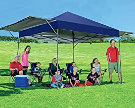 MASTERCANOPY Pop up Canopy Tent Outdoor Canopy of 10x17 ft Instant Canopy with 170 Square feet of Shade Canopy. Sandbags x4, Tent Stakes x8(Navy Blue)