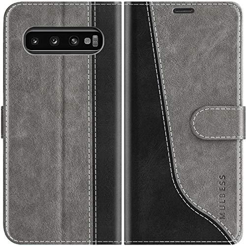 Mulbess Custodia per Samsung Galaxy S10, Cover Samsung Galaxy S10 Libro, Custodia Samsung Galaxy S10 Pelle, Flip Cover per Samsung Galaxy S10 Portafoglio,...