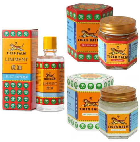 Tiger Balm Red & White Ointment 30gm/Jar + Tiger Balm Liniment 28ml