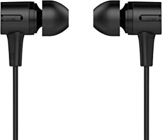 boAt BassHeads 102 Wired Earphones with Immersive Audio, Multi-Function Button, in-line Microphone & Perfect Length Tangle Free Cable (Charcoal Black)