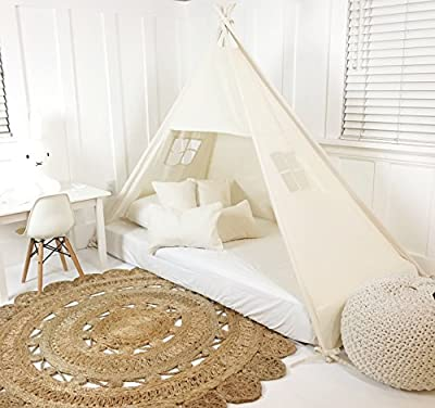 Domestic Objects Canopy Tent (for Bed) | Twin No Doors | Play Tent Canopy | Handmade | Cotton | Great for Toddler Transition to Big Bed