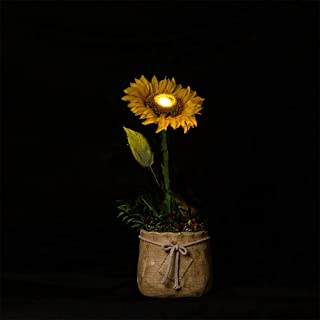 FLCSIed Artificial Realistic Sunflower LED Pot Lighted Flowers for Fall Decoration Thanksgiving Home