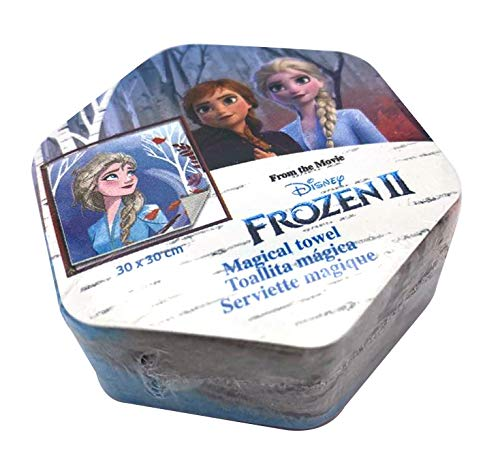 Kid Licensing Surtido Toallitas Magicas 4 Diseño Frozen 2 Y Frozen 2 30X30Cm - Toallas
